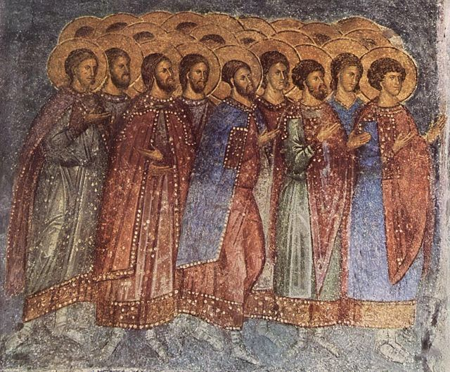 Fresco in church at Mistras
