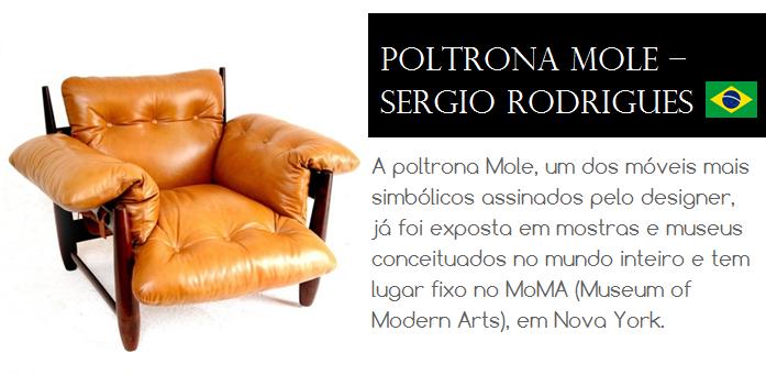 A poltrona Mole, um dos móveis mais simbólicos assinados pelo designer Sérgio Rodrigues