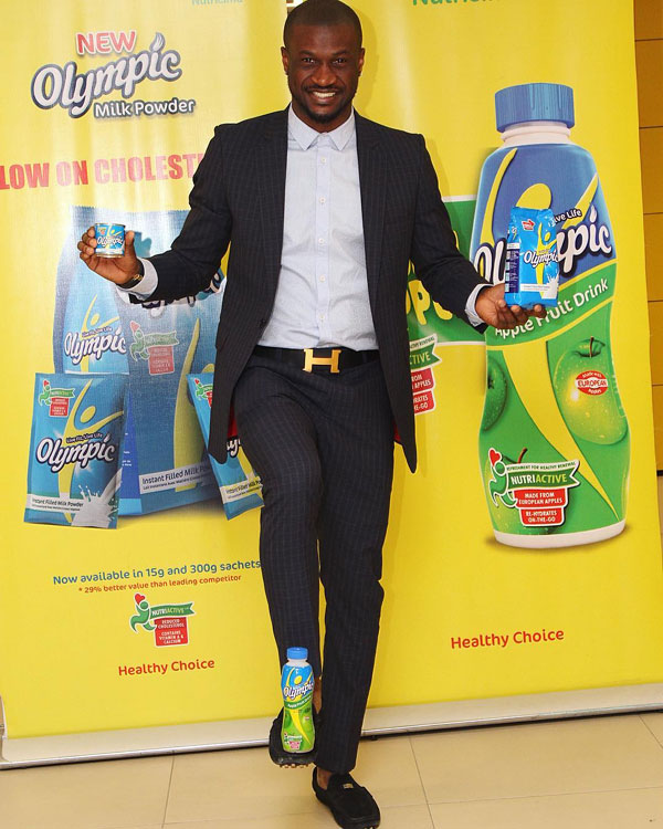 Shuu? Check Out Peter Okoye's (P-square) Weird Pose For Olympic Milk (Photo)