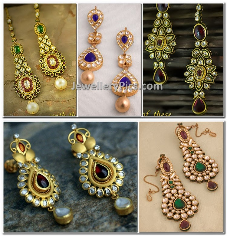 kundan studded earrings collection