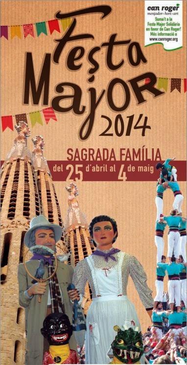 Cartel Fiesta Mayor Sagrada Familia 2014