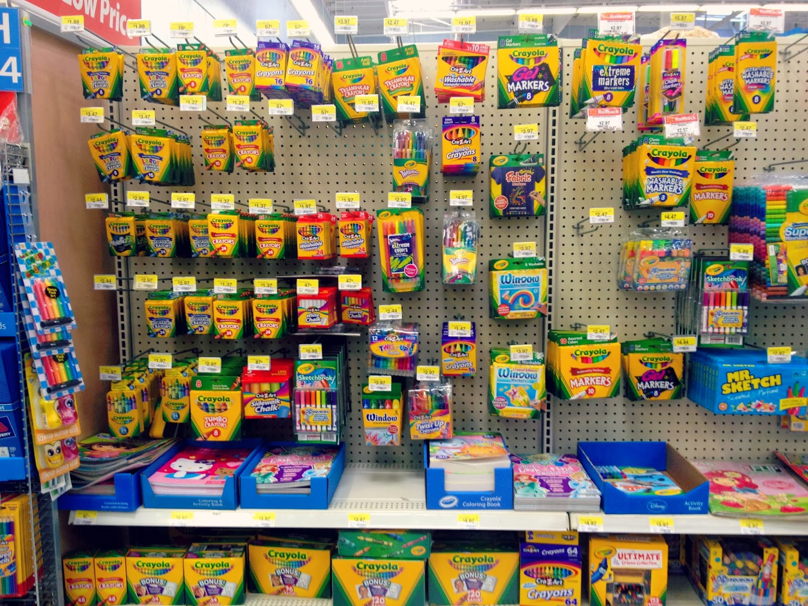 Walmart Crayola display