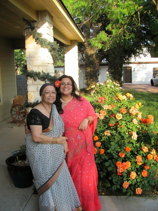 Author Mina Khan and her Mom