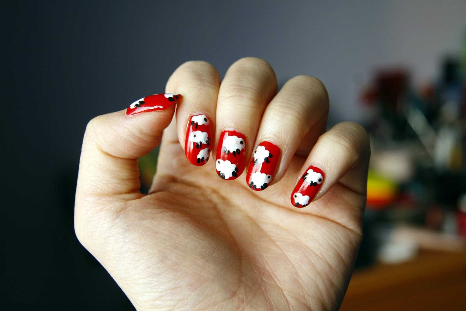 fun size beauty: NAILS: Year of the Sheep // Chinese New Year