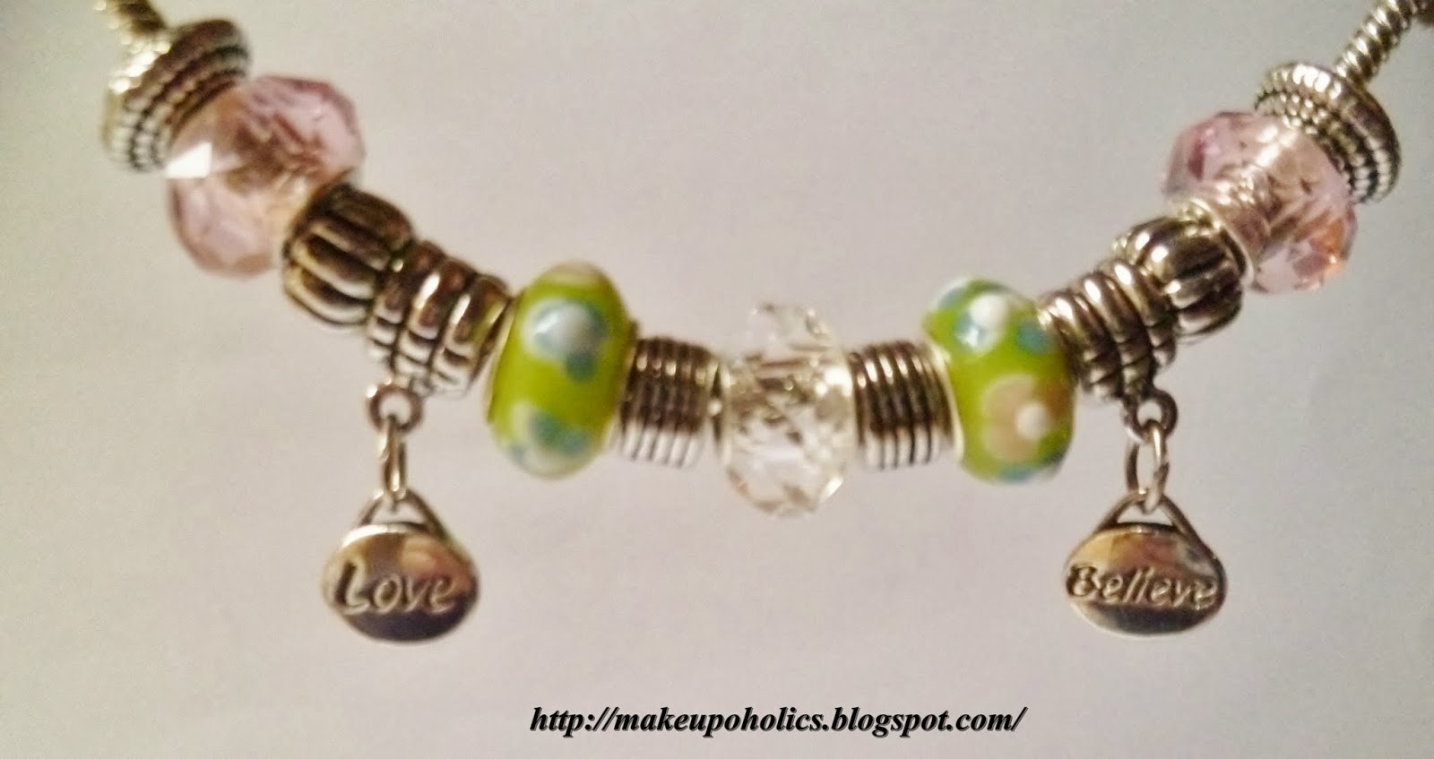 LOVE and BELIEVE Beaded Bracelet By Charm Factory