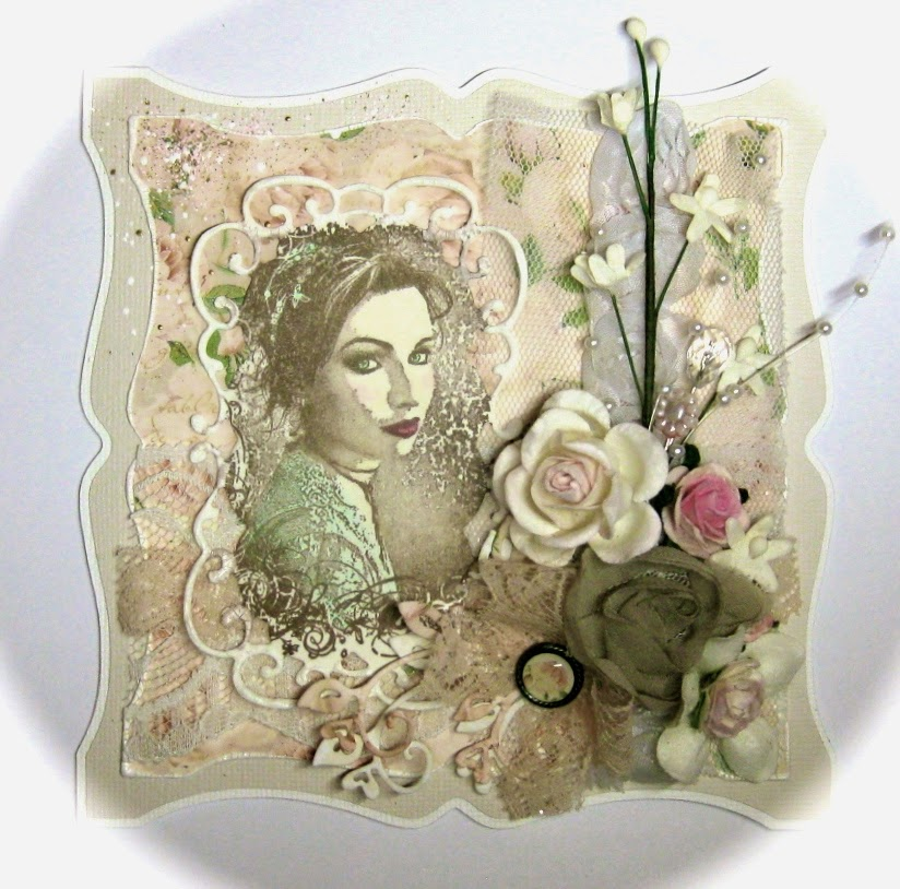 sabrinas kreative seite romantische maribel karte f r die stempelglede challenge. Black Bedroom Furniture Sets. Home Design Ideas