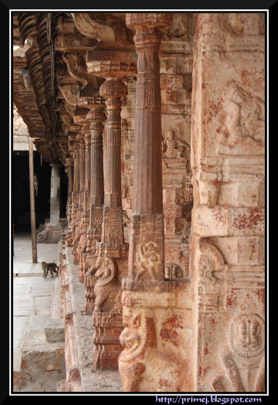 Ornate Pillars, Virupaksha Temple