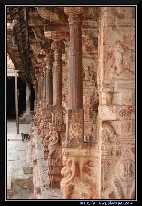 Ornate Pillars, Virupaksha Temple