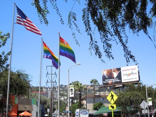 One Good Love billboard West Hollywood
