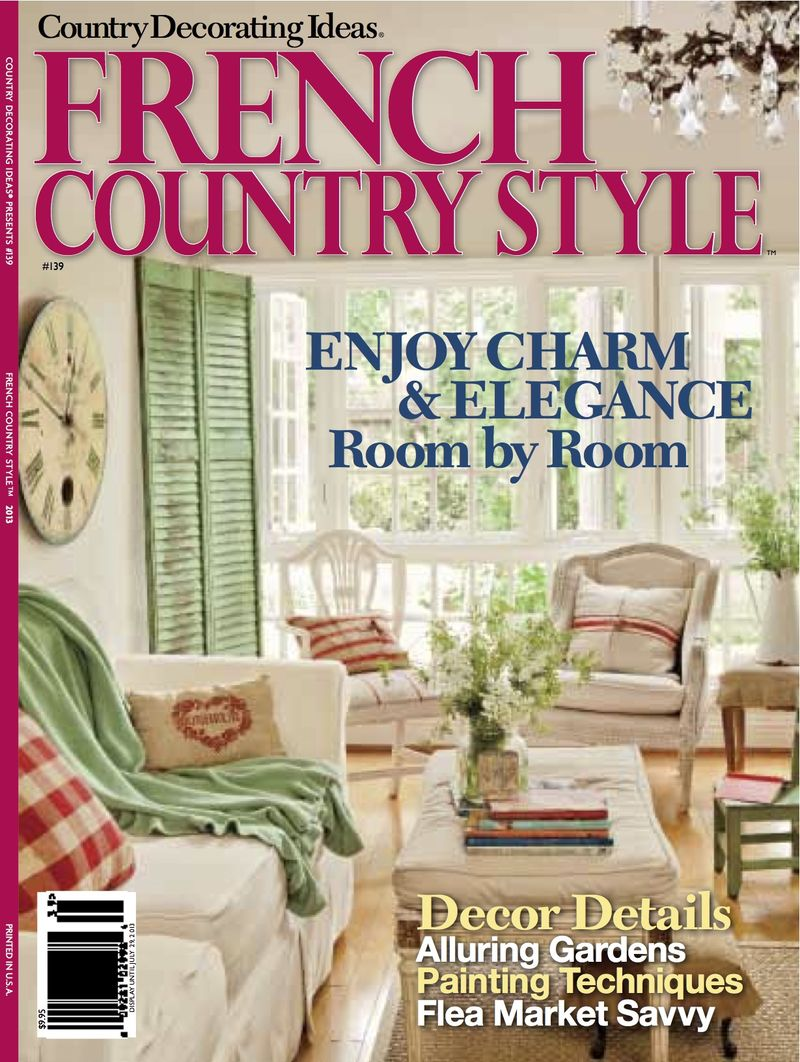 About me french country cottage for Country cottage magazine