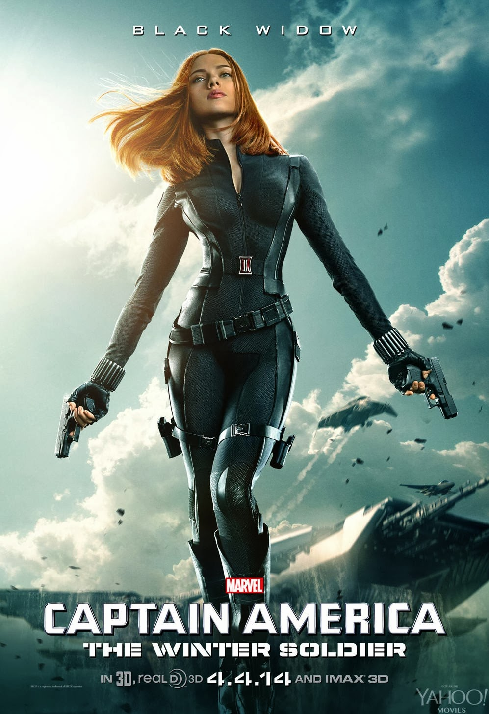 Captain America: The Winter Soldier Teaser Character Movie Poster Set - Scarlett Johansson as Black Widow