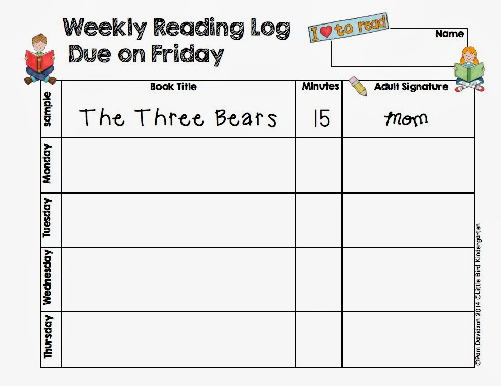 """Weekly Reading Calendar : Search results for """"readinglog calendar"""