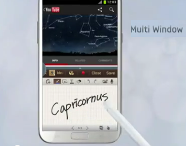 Samsung Introduce The Features Of Multi Windows On Galaxy Note II