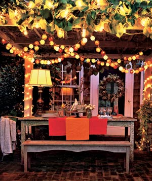 Sheek shindigs light up your outdoor party for Outside lighting ideas for parties