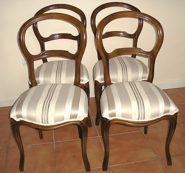 El desvan de mamen una docena de sillas - Tapizar una silla ...