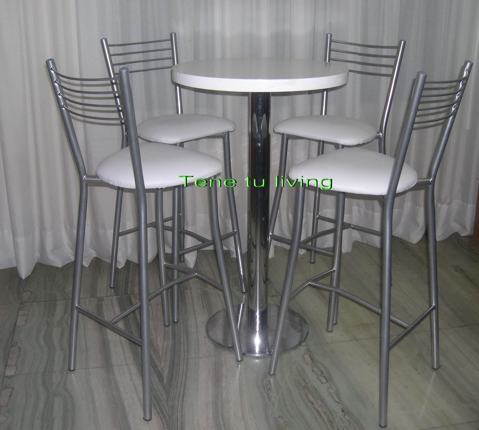 Tene tu living alquiler de mesas y sillas altas para eventos for Sillas para rentar