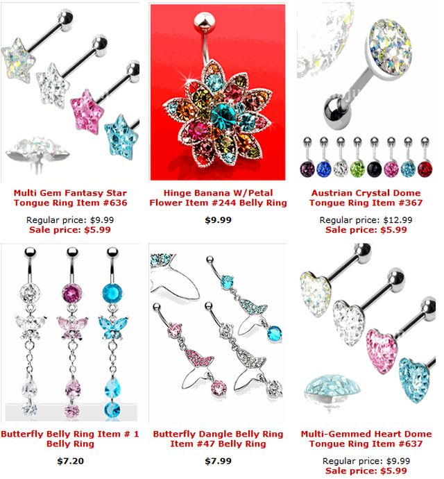 Body Jewelry Free Shipping