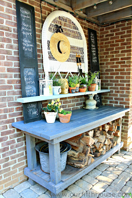 Our Fifth House - Potting Bench