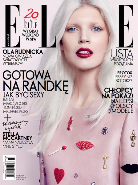 Magazine Photoshoot : Ola Rudnicka Photoshoot For Elle Magazine Poland February 2014 Issue
