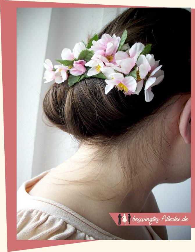 Haarschmuck, Haarblüten, selbst machen