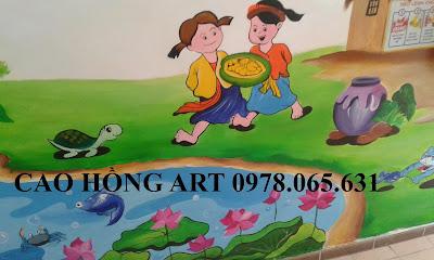 vẽ tranh tường,vẽ tranh tường mẫu giáo