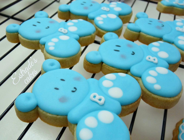 galletas para bautizo decoradas con glasa - osito
