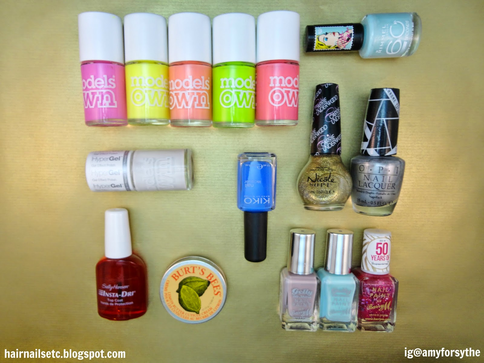 nail polish, 2014, Barry M, Models Own, OPI, NOPI, Rimmel, Kiko, Sally Hansen, Burt's Bees