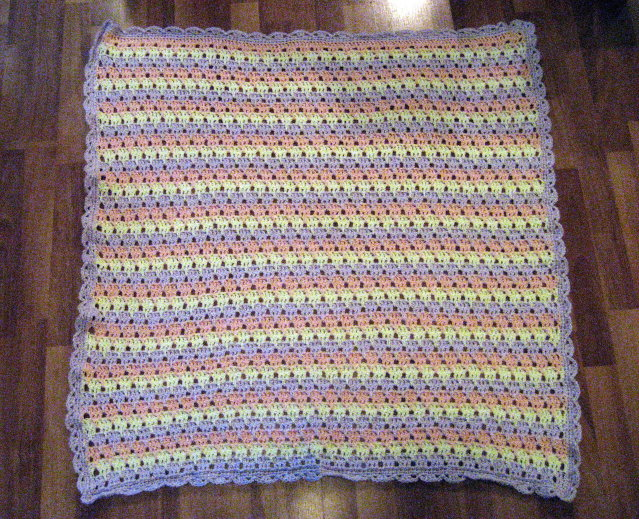Crochet Stitches And Their Names : Cthulhu Crochet and Cousins: Rock-a-Bye Rainsong Afghan Not So Rainy!