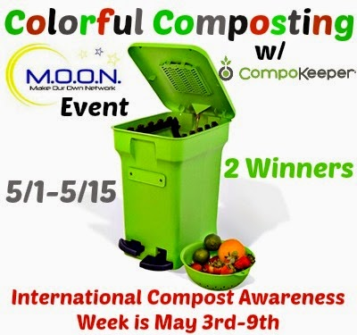 Enter the Colorful Composting Giveaway. Ends 5/15