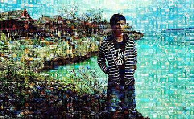 efek mozaik foto