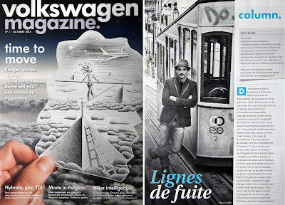 Editorial, interview and cover in Volkswagen Magazine (2013)