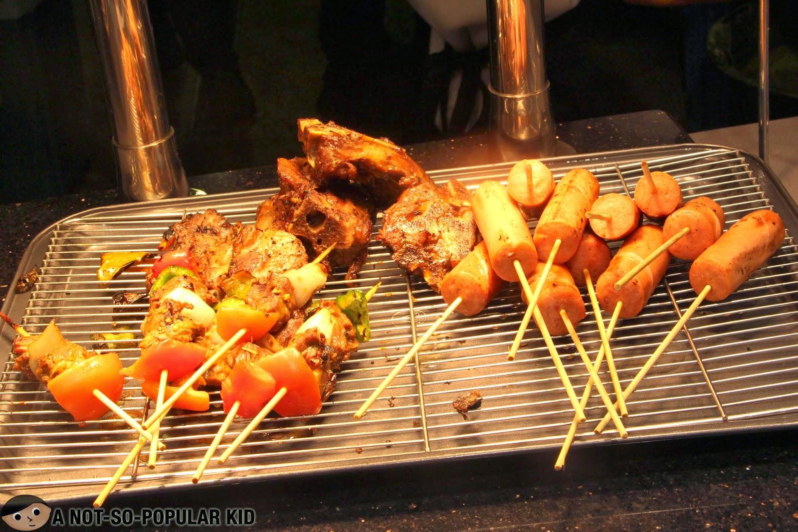 Grilled Kebab and Sausages in Vikings