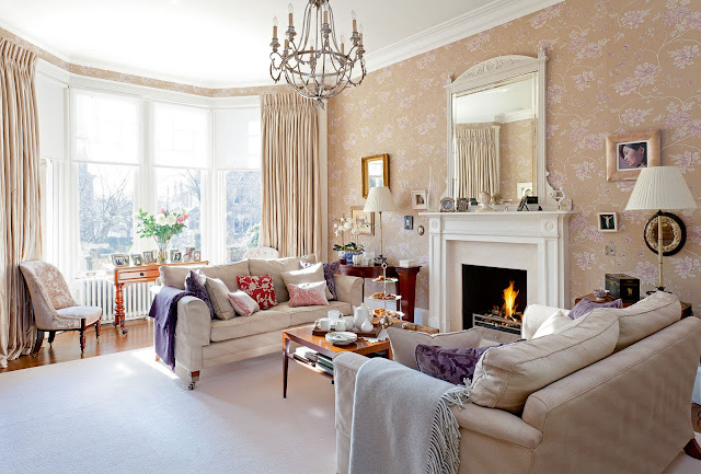Edwardian period interiors - livingrooms