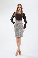 Rochie negru cu gri din stofa RBSZII-06 (Ama Fashion)