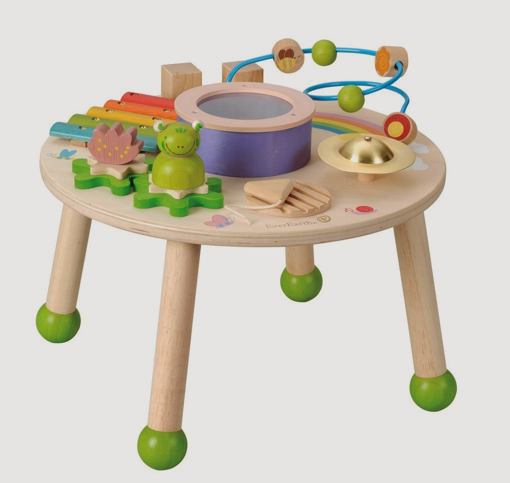 Toddlers Wooden Activity Musical Play Table By EverEarth
