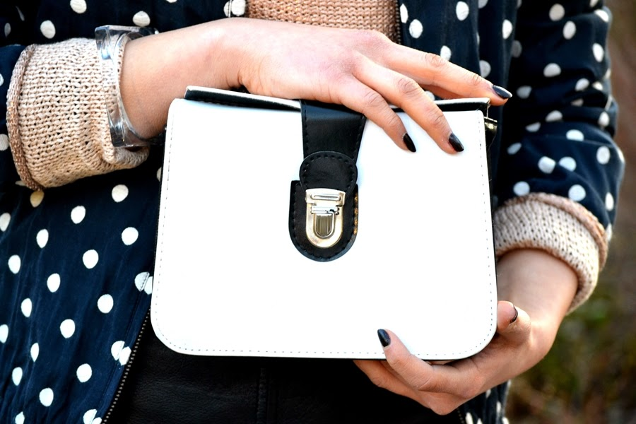 black and white bag accessoires fashion
