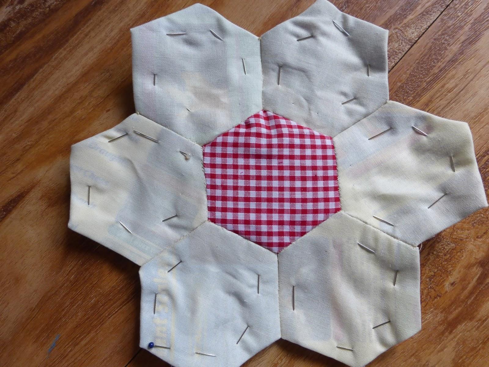 hand sewn quilt segment