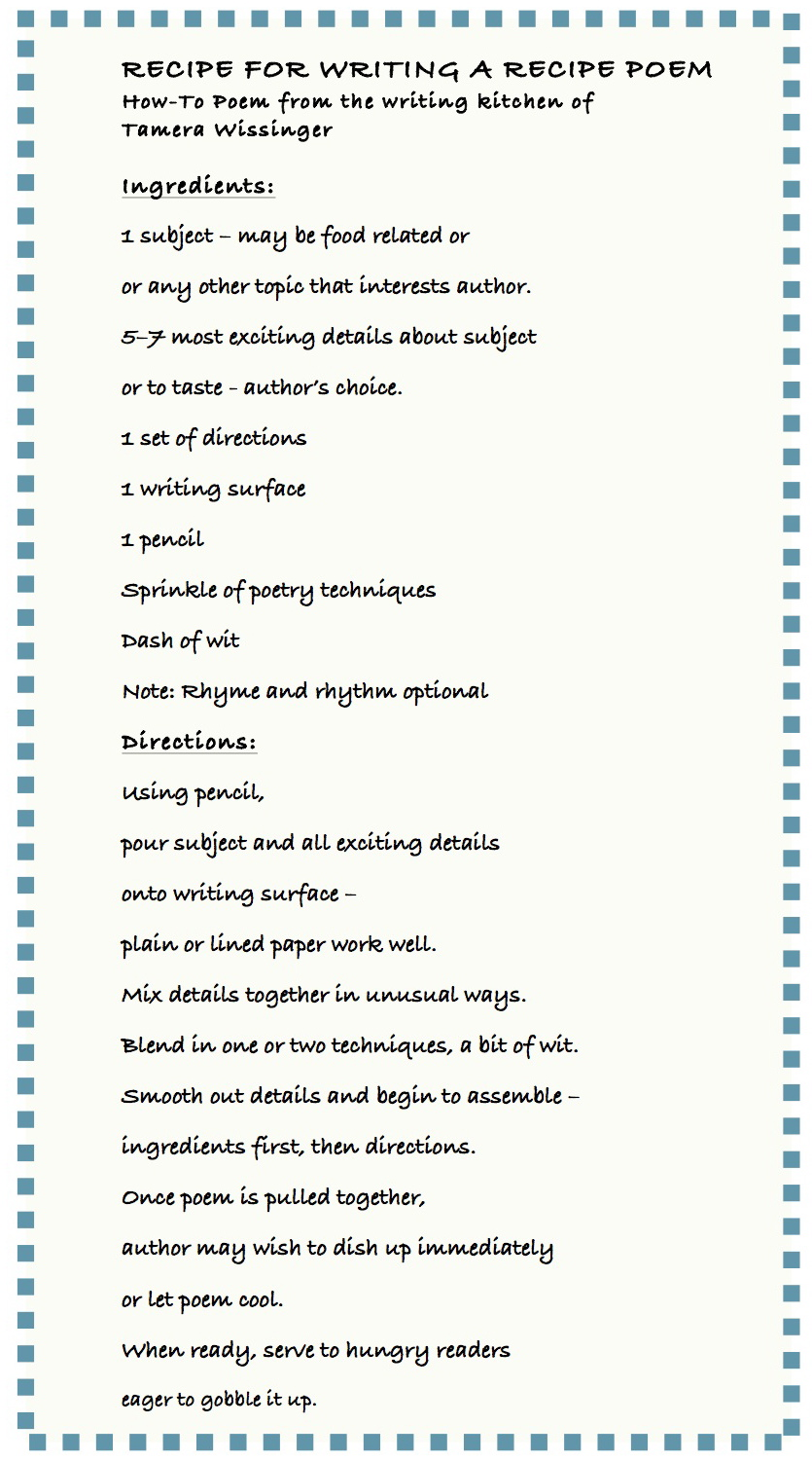 Smack dab in the middle recipe for writing a recipe poem november happy thanksgiving and happy recipe poem writing forumfinder Gallery
