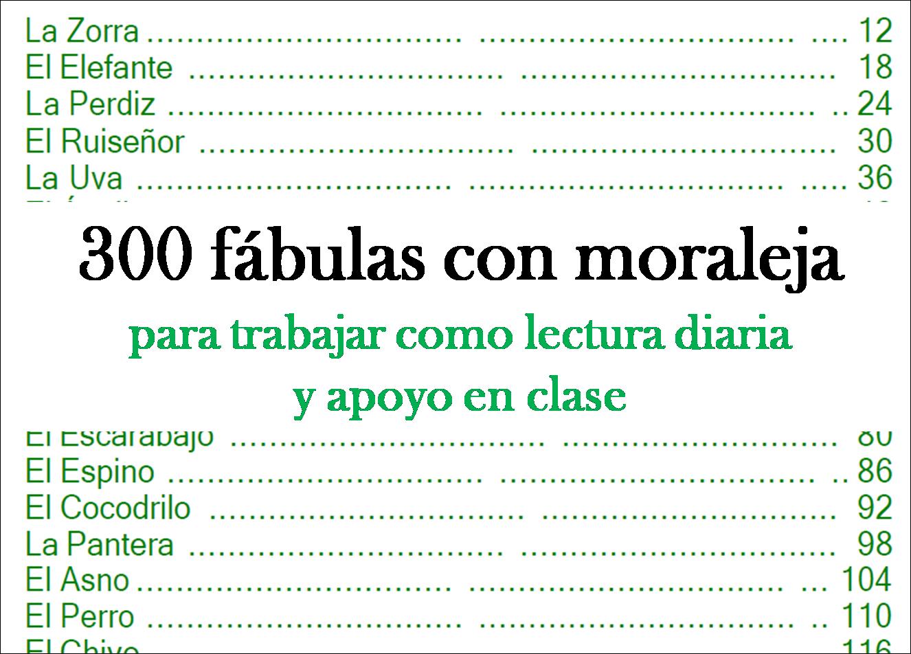 300 fábulas con moraleja para fomentar el gusto por la lectura