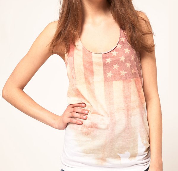 T-shirt USA Flag on www.designandfashionrecipes.com by Cristina Dal Monte
