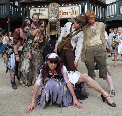 Zombies in Medieval Times? Yeah, just look at the Renfaire Dork Zombies we've got now! ;)