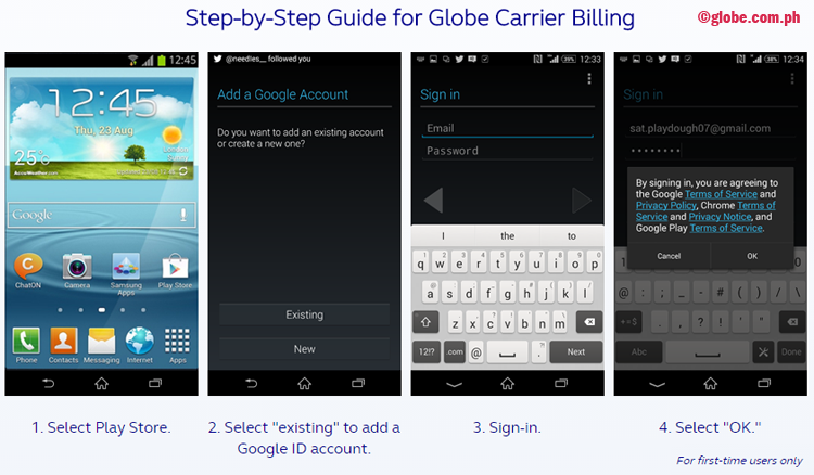 Here's How to Buy on Google Play Store Using Globe Regular Prepaid Load or Postpaid Bill