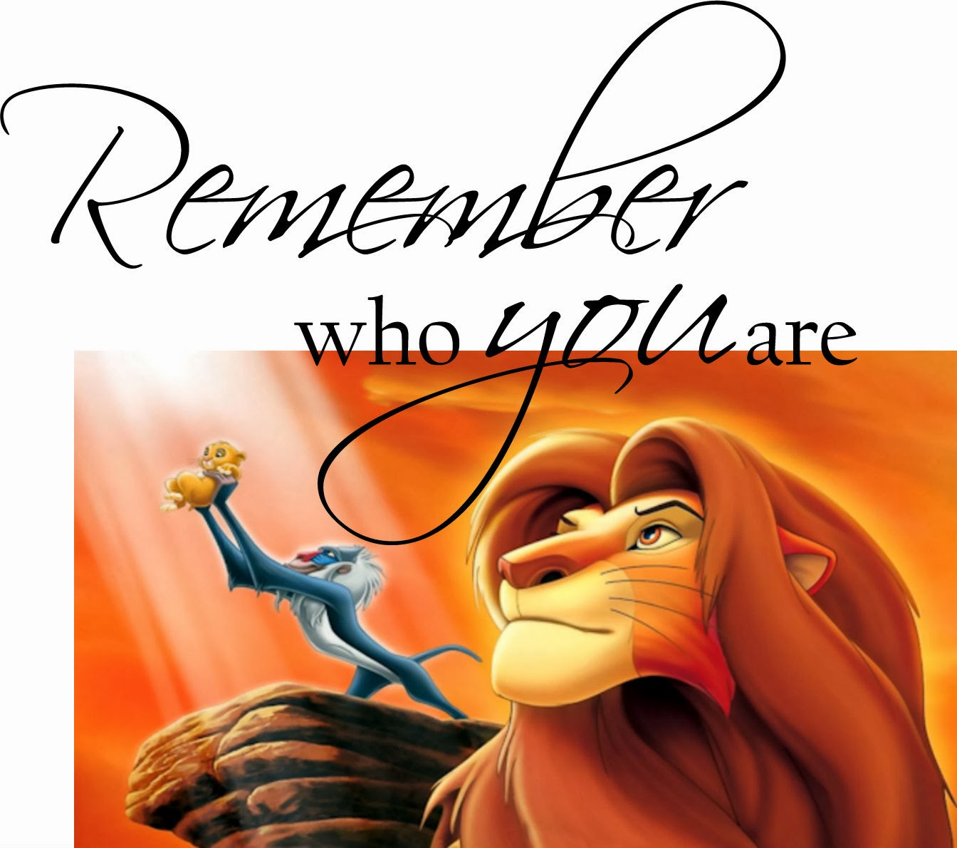 Remember who you are Simba Mufasa