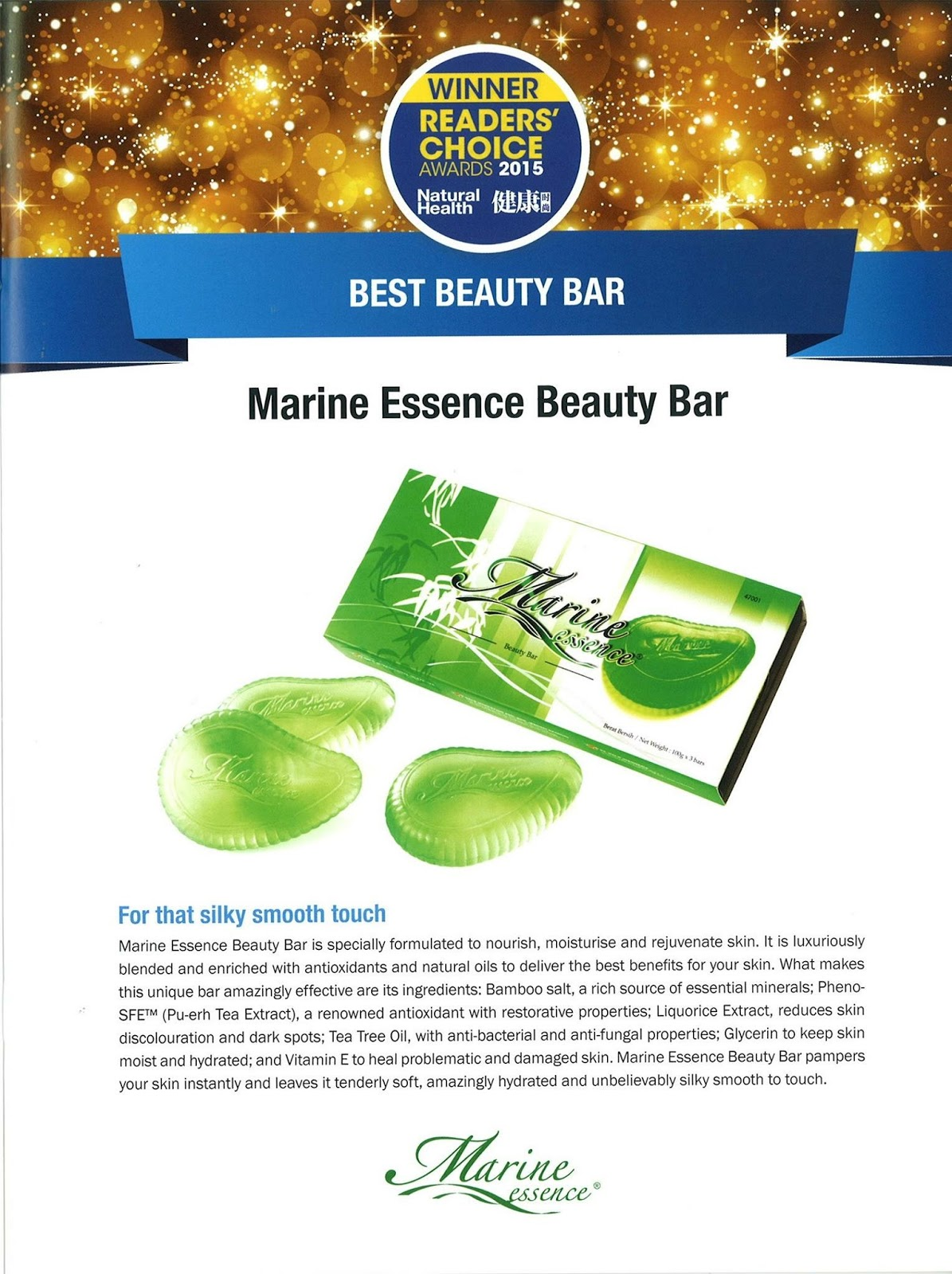 marine essence beauty bar sabun hijau