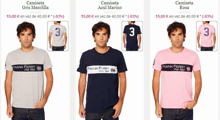 Algunos modelos de camisetas disponibles a un PVP de 15 euros