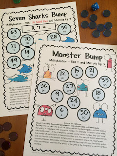 https://www.teacherspayteachers.com/Product/Multiplication-Games-828903