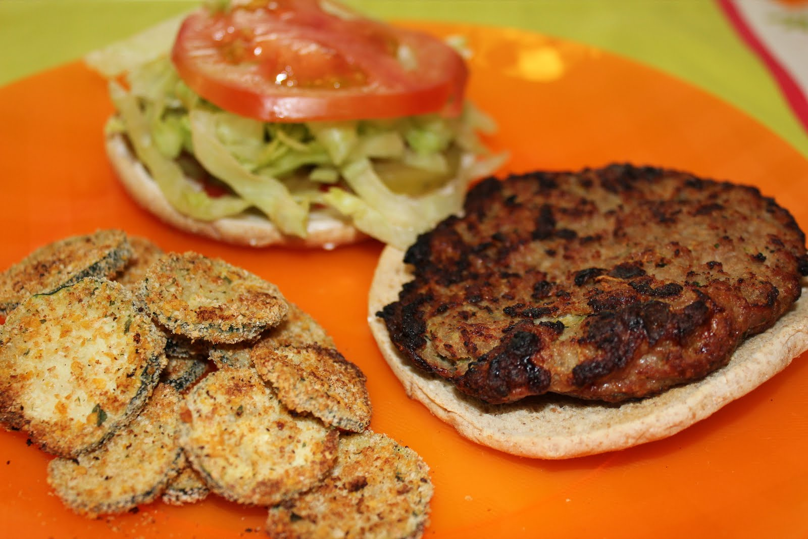 Turkey Burgers with Zucchini (recipe from SkinnyTaste.com )