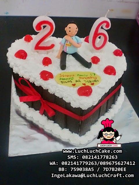 Kue Tart Ulang Tahun Love Untuk Kekasih Daerah Surabaya - Sidoarjo