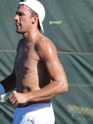 Lukasz Kubot Shirtless at Cincinnati Open 2010