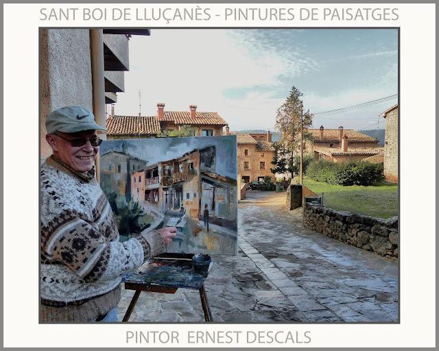 SANT BOI DE LLUÇANÈS-PINTURA-PAISATGES-CATALUNYA-OSONA-FOTOS-PINTORS-ARTISTA-PINTOR-ERNEST DESCALS-